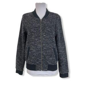 J. Crew Women's Full Zip Jacket Wool Blend Lined 8